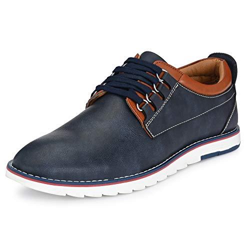 Centrino Men 3323 Navy Sneakers-7 UK (X-Wide) (3323-02)