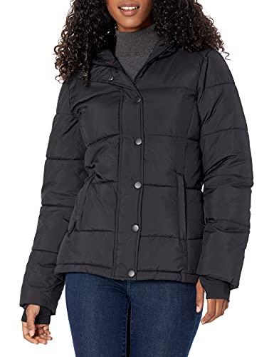 Amazon Essentials Women's Heavy-Weight Hooded Puffer Coat Outerwear, -Black, S