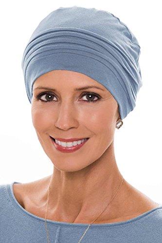 Cardani Bamboo Couture Cap- Cancer Headwear for Women … (Denim)