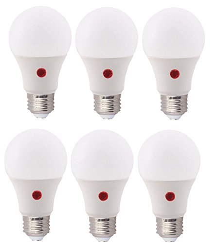 Bioluz LED Dusk to Dawn Light Bulb A19 Bulb Photocell Photosensor Auto On/Off, UL Listed Instant ON, 3000K Soft White, Indoor/Outdoor Lighting Lamp Garage, Hallway, Yard, Porch (Pack of 6)