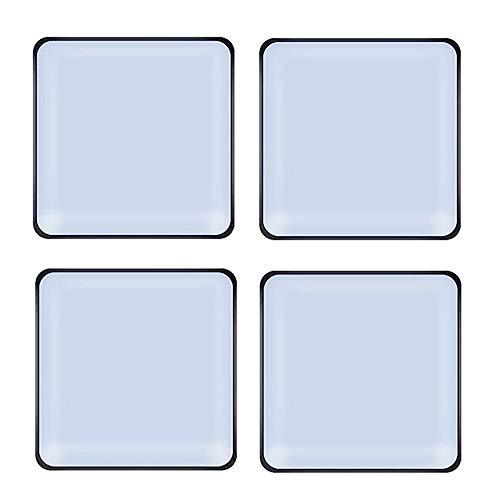 Teflon-Möbelgleiter, quadratisch, selbstklebend, PTFE-Gleiter, Bodenschoner für Möbel, einfache Umzüge, Stuhlgleiter, Holzbodengleiter, Gleiter, 40 x 40 mm, 16 Stück