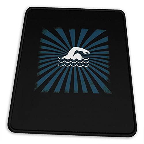 Cool Swimming Aquatics Pool Chlor Schutzbrille Schwimmer Mauspad Rutschfeste Gummiunterlage für Office Gaming Computer mit genähter Kante