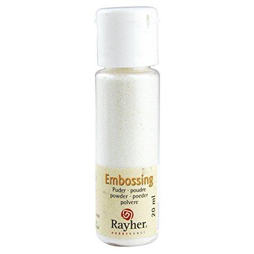 RAYHER 28000690, Embossing-Puder, 20 ml Flasche, irisierend, transparent