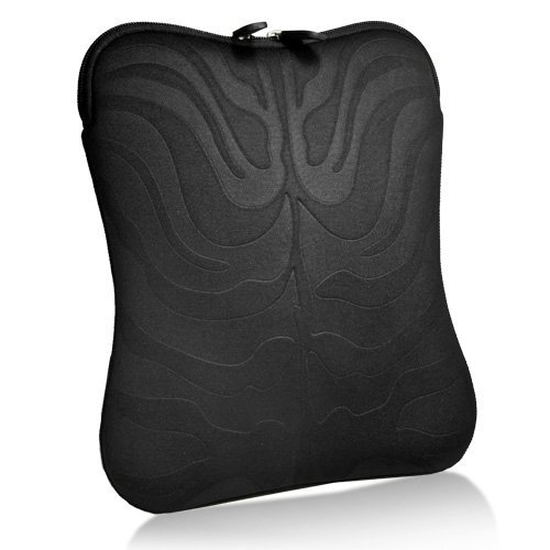 BoxWave Apple iPad Case - BoxWave Midnight Tiger iPad Pak - Slanke Tijger Patroon Neopreen Rits Draagtas voor iPad