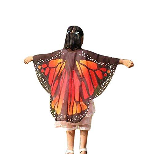 Kind Kinder Jungen Mädchen böhmischen Schmetterling Print Schal Kostüm Zubehör YunYoud schlupfschal baby loop halstuch fleece schlauchschal kinder schlauchtuch kaschmir schals