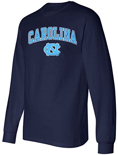 North Carolina Tarheels Shirt T-Shirt Basketball Jersey Apparel Decal University (Medium) Blue