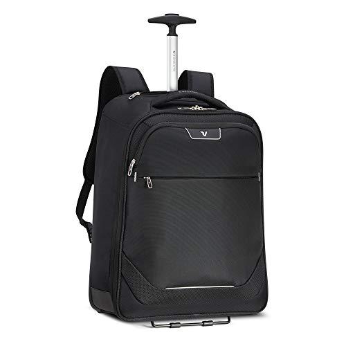 RONCATO Joy mochila trolley negro, medida: 55 x 40 x 20 cm, compartimentos interiores para la organización interna de todas tus cosas, Garantía de 3 años