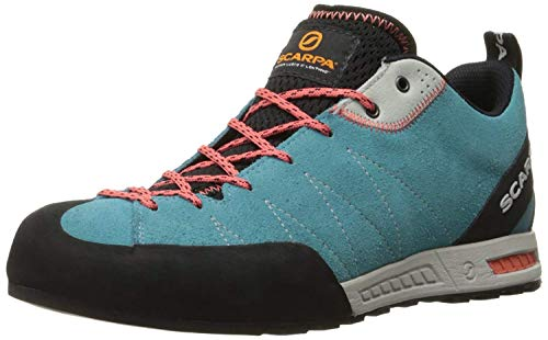SCARPA Women's Gecko WMN Approach Shoe-W, Ice Fall Brown/Coral Red, 37.5 EU/6.5 M US