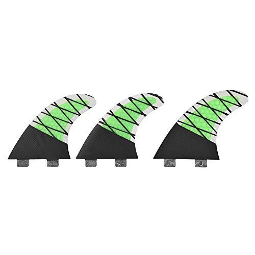 lahomie Surfboard Finnen,Surfboard Fin Set FRP + Carbon Surfing Fin FCS Einzelkopf Surfboard Fin Tri Set Thruster Finnen (G5 Größe)