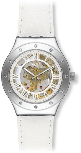 Swatch Reloj Digital para Unisex de Automático con Correa en Acero Inoxidable YAS109