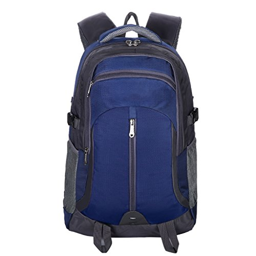 Amos Bolso de Viaje al Aire Libre Hombres y Mujeres Deportes Hombro Bolsa de Viaje de Gran Capacidad Mochila 40L (Color : Azul Oscuro)