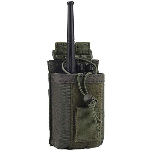 Ydmpro Funktasche – 1000D Taktische Molle verstellbare Zwei-Wege-Funkgeräte-Halterung für Walkie-Talkies (1 Packung, grün)
