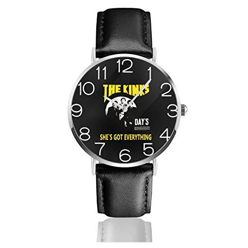 [CSHQ] 腕時計 時計 PU 腕時計バンド メンズ レディース クォーツ時計 紳士 恋人 記念日 誕生日プレゼント シンプル ビジネス ファッション - キンクス The Kinks