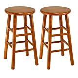 Winsome Wood Tabby Stool, 24-Inch, Cherry