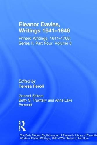 Eleanor Davies, Writings 1641-1646: Printed Writings, 1641-