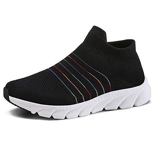 Donna Scarpe da Ginnastica Leggere Sneakers Scarpe Sportive da Corsa per Donna Nero 40 EU