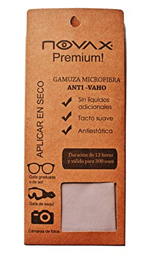 NOVAX Premium - Paño de Microfibra antivaho y Limpieza para 300 Aplicaciones eficaces y hasta 12 Horas.
