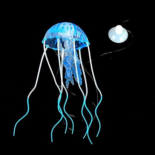 MMLC Simulation Leuchtend Qualle Aquarium Quallen Dekoration glühender Effekt künstliche Verzierung Jellyfish Künstliche für Deko Fisch Tank Ornament Glowing-Effekt Fish (Blue)