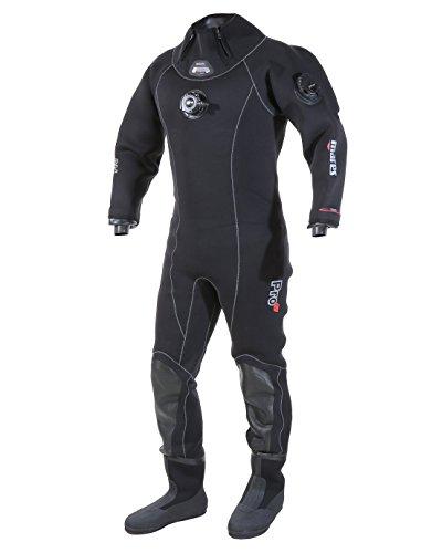 Mares Drysuit Pro Fit LX - Traje de Buceo Unisex, Color Negro, Talla XS (24)