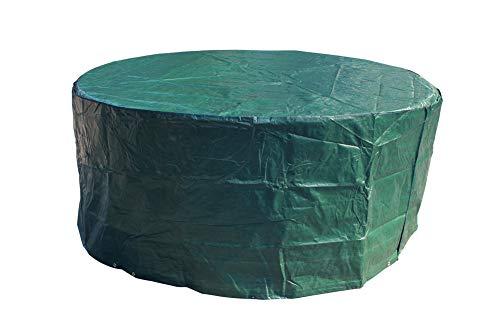 Laxllent Funda para Mesa de Jardín Impermeable al Viento Resistencia Funda para Muebles de Patio al Aire Libre,Dia190 x 70 cm,Verde
