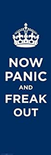 Now Panic and Freak Out - Keep Calm and Carry On Spoof Poster 12 x 36in