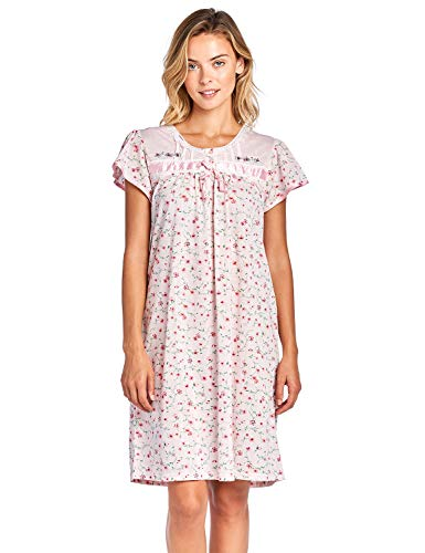 Casual Nights Women's Cap Sleeve Floral Nightgown - Pink - Large
