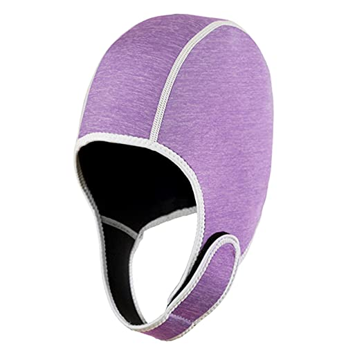 Fredh, cuffia da nuoto per nuoto, cuffia termica, protezione da sole, per sport acquatici caldi con cinghia per il mento, ergonomica, colore: rosa