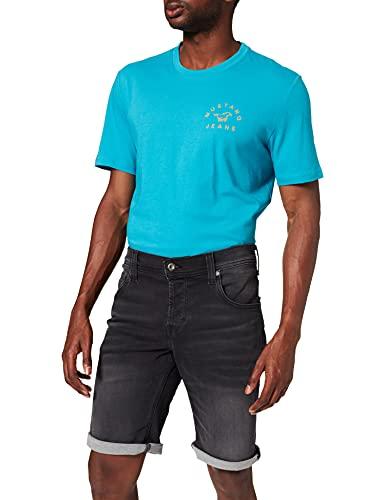 mustang Chicago Short Pantalones Jean, Negro, 34W (Corto) para Hombre