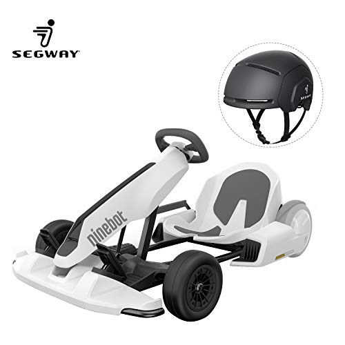 Modern-Depo Segway GoKart Kit for Ninebot S/miniPRO Transporter, Big Racing Ride on Car Toy for Kids Adults with Black Adult Helmet (Self Balancing Scooter Excluded)
