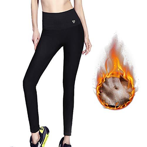 ZHENROG Pantalones para Adelgazar, Mallas Deportivas Mujer, Pantalón de Sudoración Adelgazantes, Leggins Anticeluliticos Fitness, Mallas Termicas de Neopreno para Deporte (XL)