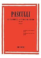 パスクッリ : 15のカプリッチョ (オーボエ教則本) リコルディ出版