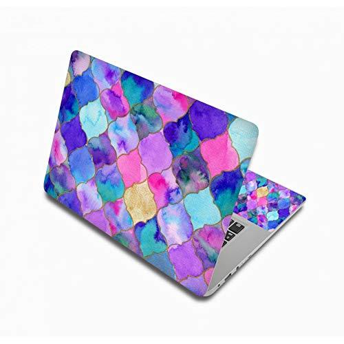 HUATULAI Laptop huid Kleurrijke Vinil Laptop Stickers Voor 17