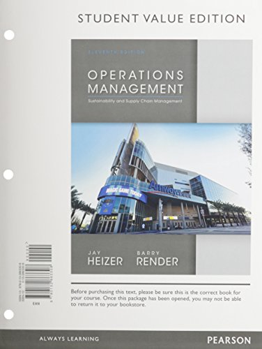 Operations Management, Student Value Edition; Student CD for Operations Management; NEW MyOMLab with Pearson eText -- Ac