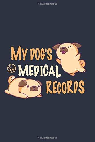 Dog Vaccination Record Book Dog Record Book Dog Immunization Record Book Canine Health Record product image