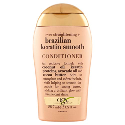ogx viaje siempre recto queratina brasileña Smooth Acondicionador, 88.7ml