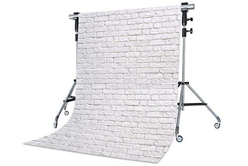 WaW Grau Weiß Abstrakt Foto Stoffhintergrund Backstein Rustikale Mauer Fotografie Kulisse Hintergründe Hochzeit 2x2.9m