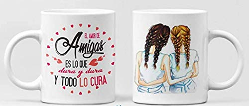 Clapper Taza Amigas. Taza de Cafe Amistad