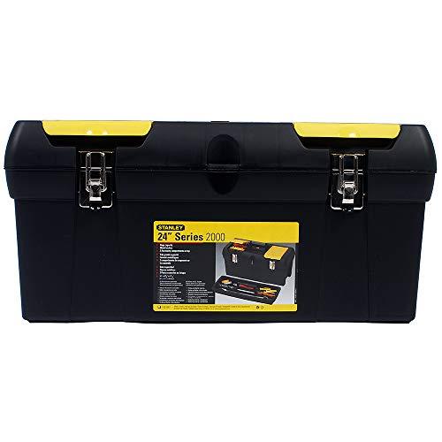 Stanley Werkzeugbox Millenium (24 Zoll, mit herausnehmbarer Ablage, 2 Organizern, Metallschließen, Kunststffgroff) 1-92-067