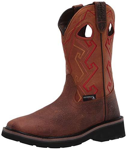 WOLVERINE - Mens Rancher Aztec Boots, 6 UK, Tan
