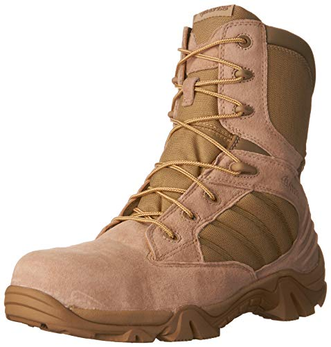 Bates Men's GX-8 Composite Toe Side Zip Work Boot, Desert, 9.5 M US