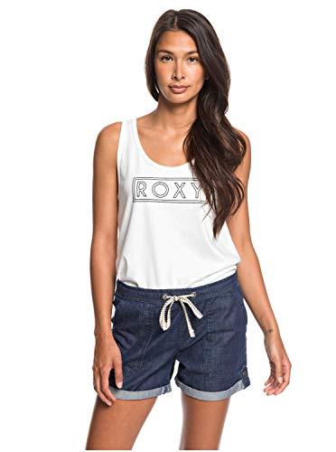 Roxy Milady Beach - Short Vaquero Elástico para Mujer Short Vaquero Elástico, Mujer, Dark Indigo,...