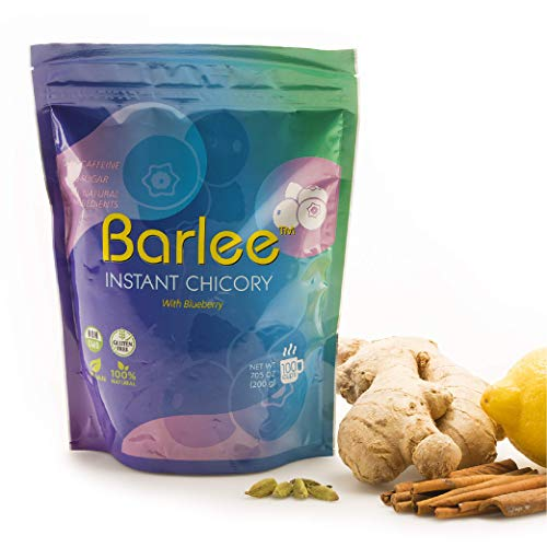 Barlee, Instant Chicory with Blueberry, Coffee Substitute, Caffeine Free (7.05 oz)