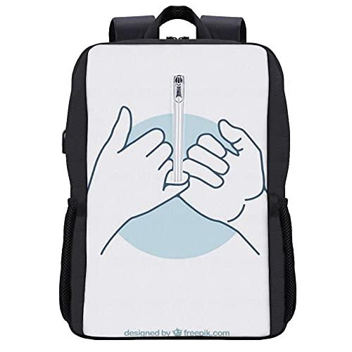 Pinky Promise Cool - Mochila para estudiantes, para escuela, viajes o trabajo, con paquete para portátiles de 15,6 pulgadas