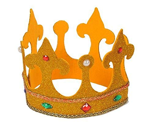 Dress Up America koningen voor volwassenen hoge koninklijke kroon