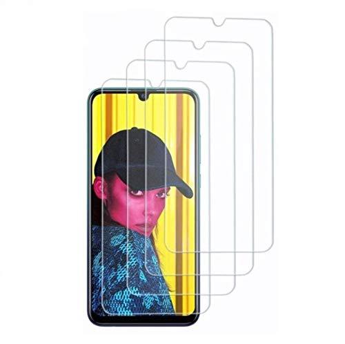 Didisky Vetro Temperato per Huawei P Smart 2019/2020 / Honor 10 Lite/Honor 8A, [4 Pezzi] Pellicola Protettiva [Tocco Morbido ] Facile da Pulire, Facile da installare, Trasparente