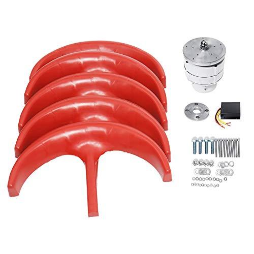 coldwind Red 5 Blades Vertical Axis Wind Turbines Generator Lantern 12V 24V Motor Kit Electromagnetic for Home Street Light Use-24v