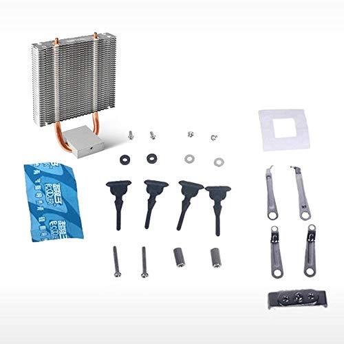 Peanutaoc CPU Koeler HB-802 2 Heatpipes Radiator Aluminium Koelplaat Moederbord Northbridge Koeler Ondersteuning 80mm CPU Ventilator