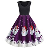 WUDUBE Robe Noel Femme Robe Cocktail Robe Année 50 Robe Rockabilly Robe Vintage Pin Up Robe de...