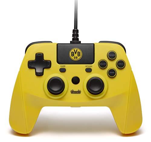 snakebyte BVB Controller (PS4) - Offiziell lizensierter Borussia Dortmund Wired Gaming Gamepad für PlayStation 4, PS4 Slim, Pro, PS3, PC, Computer / Analoge Dual Joysticks / Touchpad / 3m Kabellänge