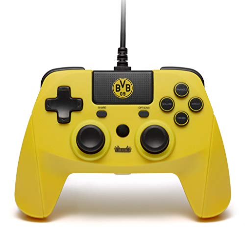 snakebyte BVB Controller (PS4) - Offiziell lizensierter Borussia Dortmund Wired Gaming Gamepad für PlayStation 4, PS4 Slim, Pro, PS3, PC, Computer / Analoge Dual Joysticks / Touchpad / 3m Kabellänge